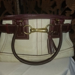 One of a kind Coach Tassel Leather Satchel
